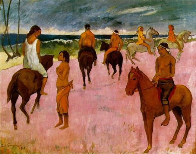 load modern beach. Riders On The Beach By Paul Gauguin Load Modern