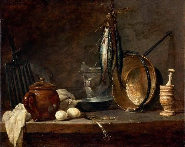 Menu De Maigre Et Ustensiles De Cuisine By Jean Baptiste Simeon