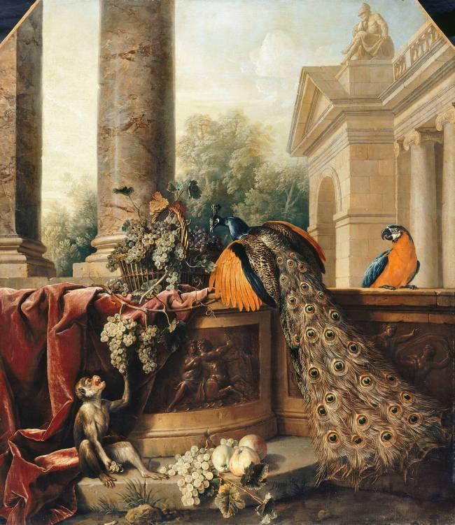 Nature morte au paon by Desportes Alexandre François – Art print ...