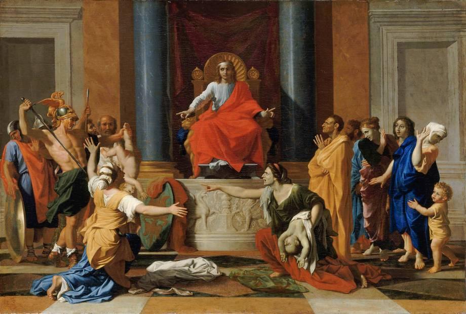 Le jugement de Salomon by Nicolas Poussin – Art print, wall art, posters  and framed art
