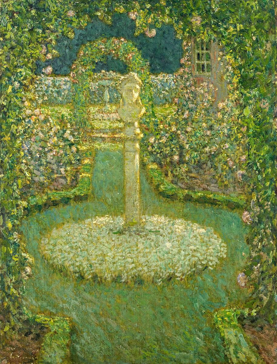 Jardin au clair de lune by le sidaner henri art print - Sculpture de jardin ...
