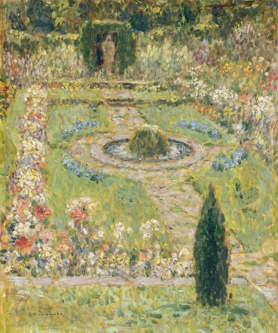 Jardin hampton court by le sidaner henri art print for Le jardin henri vinay