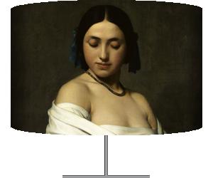 Etude florentine ou jeune fille en buste les yeux baissés (Flandrin Hippolyte) - Muzeo.com