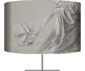 Draperie pour une figure agenouillée, en profil perdu, à droite (De Vinci Léonard) - Muzeo.com