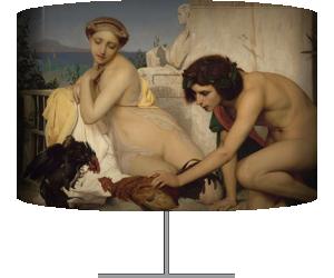 Jeunes Grecs faisant battre des coqs dit aussi un combat de coqs (Gerôme Jean Léon) - Muzeo.com