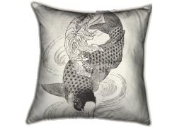 Kouanon, the goddess of grace and a fish (Hokusai) - Muzeo.com