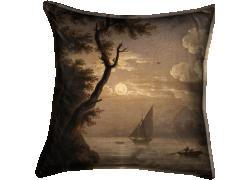 La lune sur l'eau, paysage animé (Simon Mathurin Lantara) - Muzeo.com