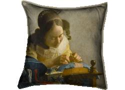 The Lacemaker (Johannes Vermeer) - Muzeo.com