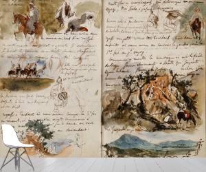 Cavaliers arabes, notes manuscrites (Delacroix Eugène) - Muzeo.com