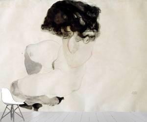 Squatting nude (Schiele Egon) - Muzeo.com