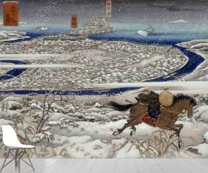 Un cavalier revient de la ville de Hagi en 1865 pour diffuser les nouvelles de la guerre (Craft Kinuko Y.) - Muzeo.com