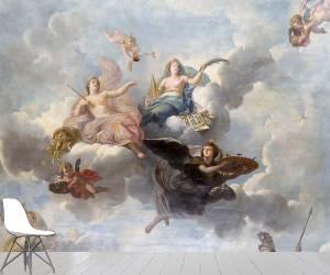 Vue intérieure des grands appartements : plafond du salon de l'abondance (Houasse René Antoine;Houasse,...) - Muzeo.com