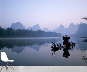 China, Guangxi Province, Guilin / Yangshou, Li River / Cormorant Fisherman / Dawn (Eurasia Press) - Muzeo.com