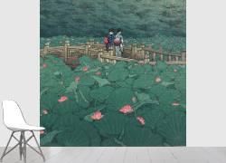 Benten Pond at Shiba, August 1929 (Hasui Kawase) - Muzeo.com