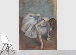 Danseuse nouant sa pantoufle (Degas Edgar) - Muzeo.com