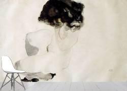 Squatting nude (Egon Schiele) - Muzeo.com
