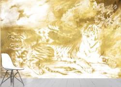 Jeune tigre jouant avec sa mère (Eugène Delacroix) - Muzeo.com