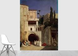 Before a Mosque in Cairo (Decamps Alexandre Gabriel) - Muzeo.com