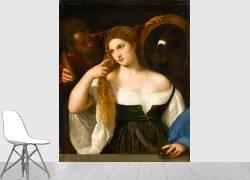 Portrait d'une femme à sa toilette (Tiziano) - Muzeo.com