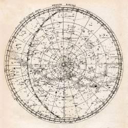 Star Chart, northern hemisphere (Camille Flammarion) - Muzeo.com