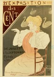 22° [Vingt deuxième] Exposition des Cent de juillet à fin septembre entrée 0F50... (Detouche Henry) - Muzeo.com