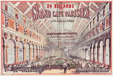 24 billards. Grand café parisien, le plus grand café du monde (anonyme) - Muzeo.com