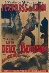 A partir du 9 novembre, l'Express de Lyon publiera, les Deux berceaux par Emile Richebourg... (anonyme) - Muzeo.com