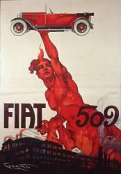 Poster for Fiat 509 (Codognato Plinio) - Muzeo.com