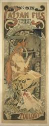 Affiche pour l'imprimerie Cassan fils à Toulouse (Mucha Alfons) - Muzeo.com