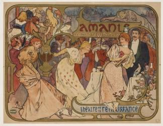 Amants, comédie de M. Donnay au théatre de la Renaissance (Mucha Alfons) - Muzeo.com