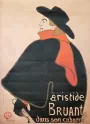 Aristide Bruant dans son cabaret (Toulouse-Lautrec Henri de) - Muzeo.com