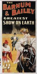 Barnum and Bailey Greatest show on earth (écuyère assise) (anonyme) - Muzeo.com