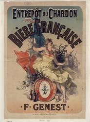 Bière française, F. Genest (Chéret Jules) - Muzeo.com