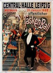 Central Halle Leipzig Mittwoch 20 Januar 1892, Grosser öffentlicher Masken-Ball (anonyme) - Muzeo.com