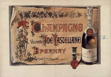 Champagne Vicomte F. de Castellane, Epernay (anonyme) - Muzeo.com