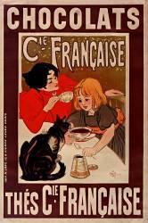Chocolats C[ompagn]ie française, Thés C[ompagn]ie française (Steinlen Théophile Alexandre) - Muzeo.com