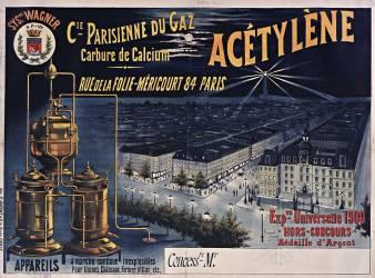 Cie Parisienne du gaz Acétylène (Tournon Raymond (1870-1919)....) - Muzeo.com
