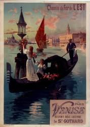 Chemin de fer de l'Est. De Paris à Venise par Belfort (Hugo d'Alési F. (1849-1906)....) - Muzeo.com