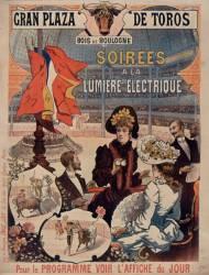 Grand Plaza de toros- Bois de Boulogne. Soirées à la lumière électrique... (anonyme) - Muzeo.com
