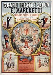 Grand theâtre salon Ed. Marcketti tous les soirs... Miss Wilson (anonyme) - Muzeo.com