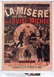 Gratis partout la 1ère livraison illustrée La Misère par Louise Michel (Belin Auguste (18..-18..)....) - Muzeo.com