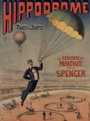 Hippodrome... La descente en parachute par Mr. Spencer (anonyme) - Muzeo.com
