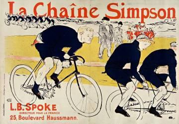 La Chaîne Simpson. L[ouis] B[ouglé] Spoke, directeur pour la France, 25, boulevard Haussmann. (Toulouse-Lautrec Henri de) - Muzeo.com
