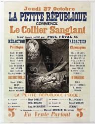 La Petite République commence le Collier sanglant, grand roman inédit de Paul Féval ... (anonyme) - Muzeo.com