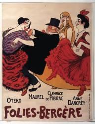 [La Revue des] Folies-Bergère . [Marguerite Deval, Fugère, Fragson], Otero, Maurel, Clémence de Pibrac, Anne Dancrey (Barrère Adrien (1877-1931)....) - Muzeo.com