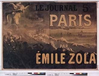 Le Journal publie Paris par Emile Zola (Steinlen Théophile Alexandre) - Muzeo.com