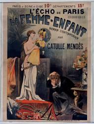 L'Echo de Paris commence La Femme-enfant roman contemporain par Catulle-Mendès (Métivet Lucien) - Muzeo.com