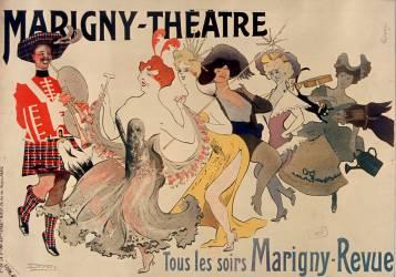 Marigny-Théâtre. Tous les soirs Marigny revue (Lourdey Maurice) - Muzeo.com