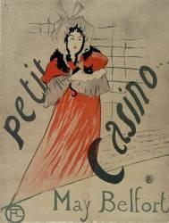 May Belfort, Petit Casino (Toulouse-Lautrec Henri de) - Muzeo.com