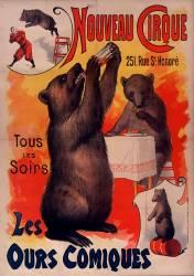 Nouveau Cirque. Les Ours comiques (anonyme) - Muzeo.com